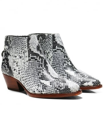 Leather Snake Print Ernest Boots