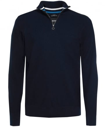 Slim Fit Cotton Half-Zip Danielo Jumper