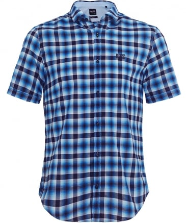 Regular Fit Short Sleeve Barn_R Check Shirt