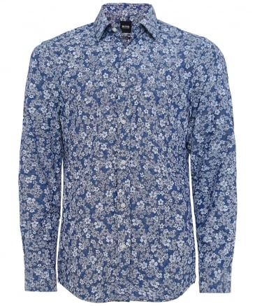 Regular Fit Floral Chambray Lukas_F Shirt