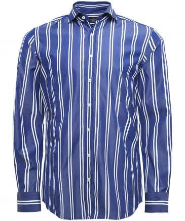Slim Fit Nautical Striped Shirt