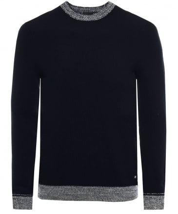 Textured Cotton Crew Neck Kilian Jumper