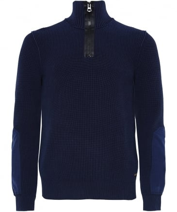 Ribbed Half-Zip Aronimo Jumper