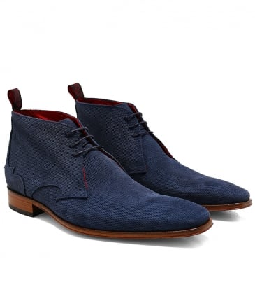 Textured Suede Scarface Chukka Boots