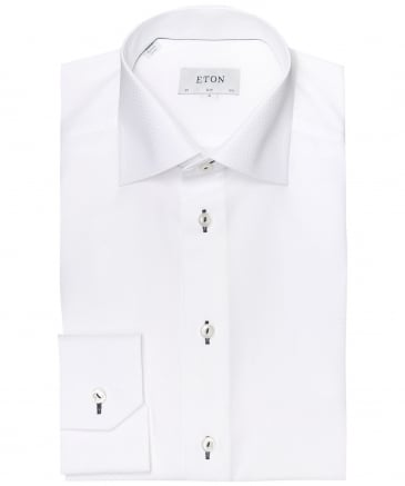 Slim Fit Textured Woven Shirt