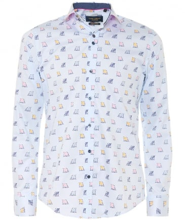Slim Fit Deck Chair Print Shirt