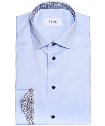 Contemporary Fit Patterned Trim Shirt