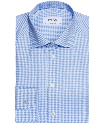 Contemporary Fit Houndstooth Shirt