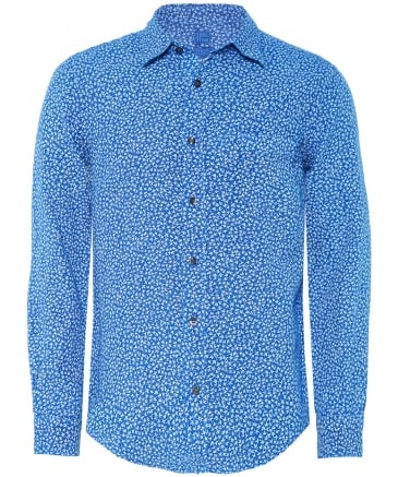 Regular Fit Linen Floral Shirt