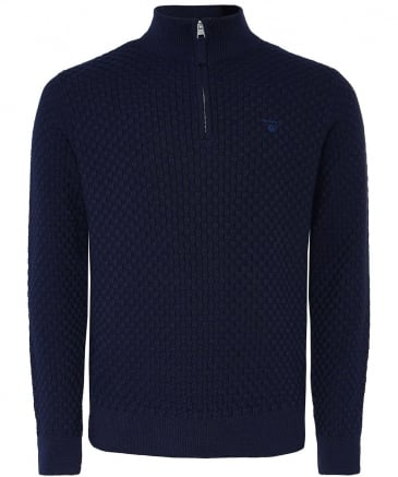 Half-Zip Basketweave Jumper
