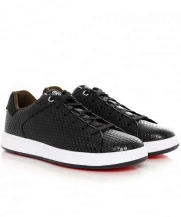 Textured Leather Serge Trainers