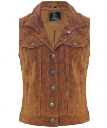 Coin Suede Waistcoat