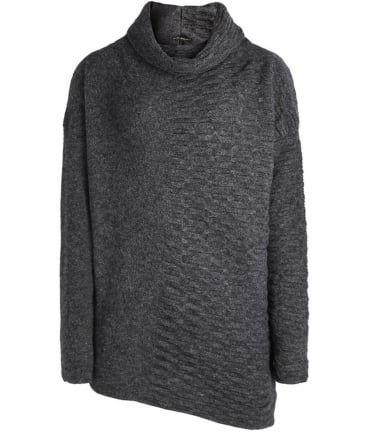 Wool Asymmetric Turtleneck Jumper
