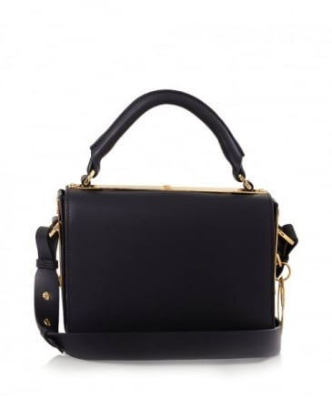 Leather Finsbury Top Plate Shoulder Bag