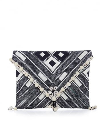 Embroidered Kesi Clutch Bag