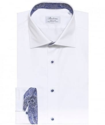 Fitted Floral Trim Shirt