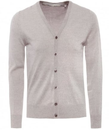 V-Neck Merino Wool Cardigan