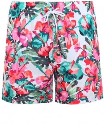 Lightweight Flower Print Swim Shorts