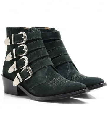 Suede Multi Buckle Boots