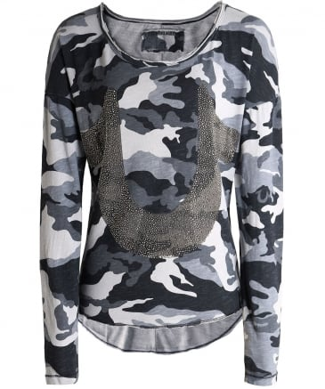 Long Sleeve Horseshoe Camo T-Shirt